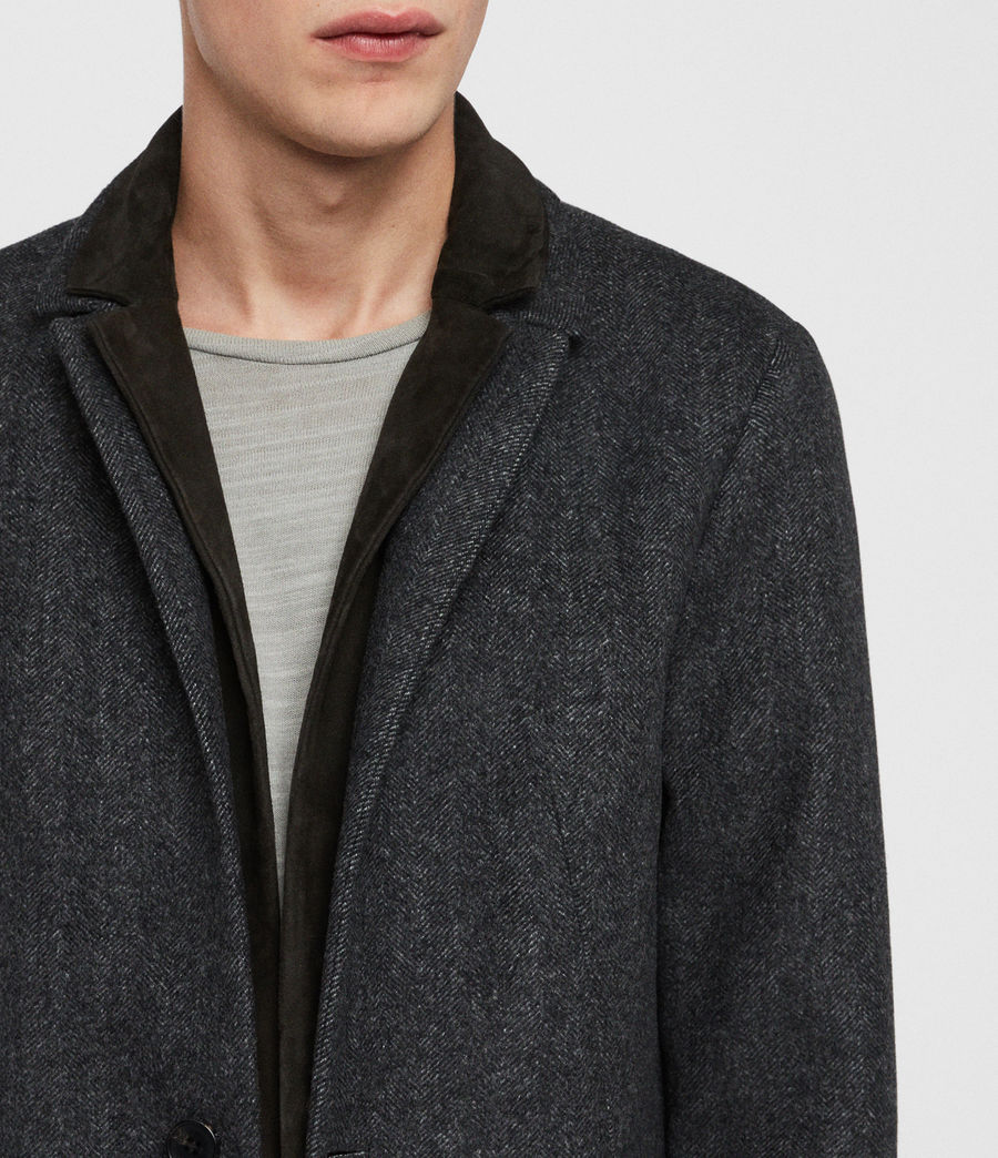 Men's Merton Coat (charcoal_grey) - Image 5