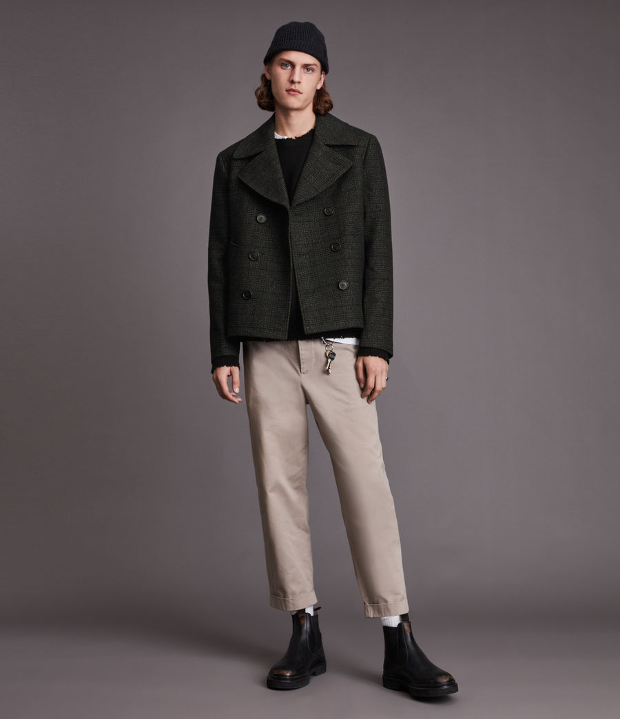 Hommes Ford Pea Coat (black) - Image 5