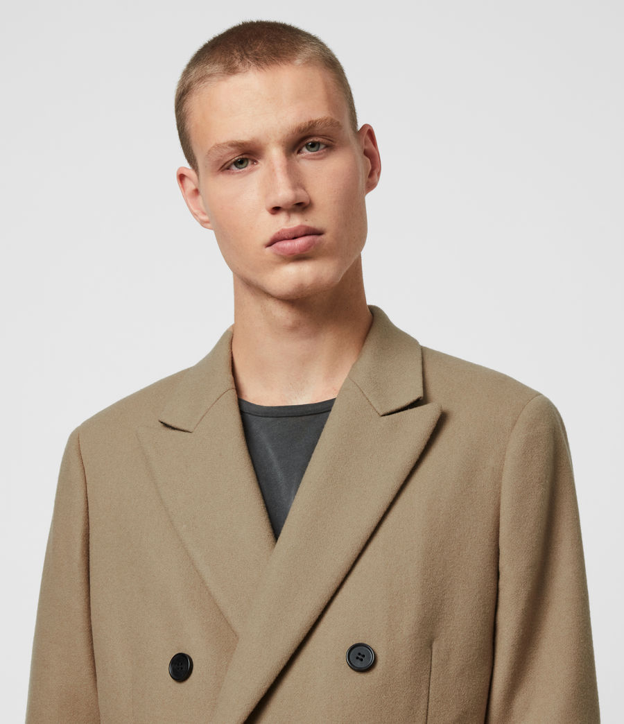 Men's Arley Coat (light_camel_brown) - Image 1
