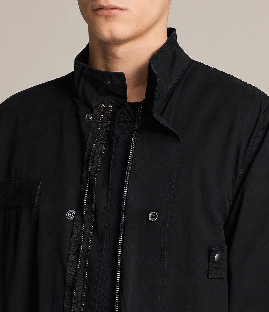 Mens Arlet Parka Coat (black) - Image 2