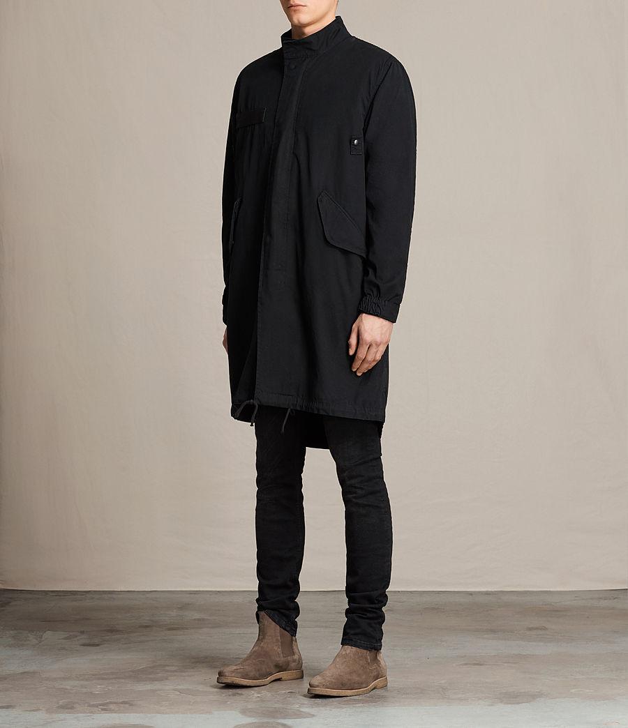 Mens Arlet Parka Coat (black) - Image 3