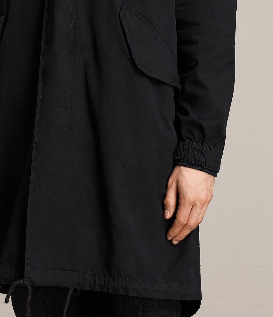 Mens Arlet Parka Coat (black) - Image 4