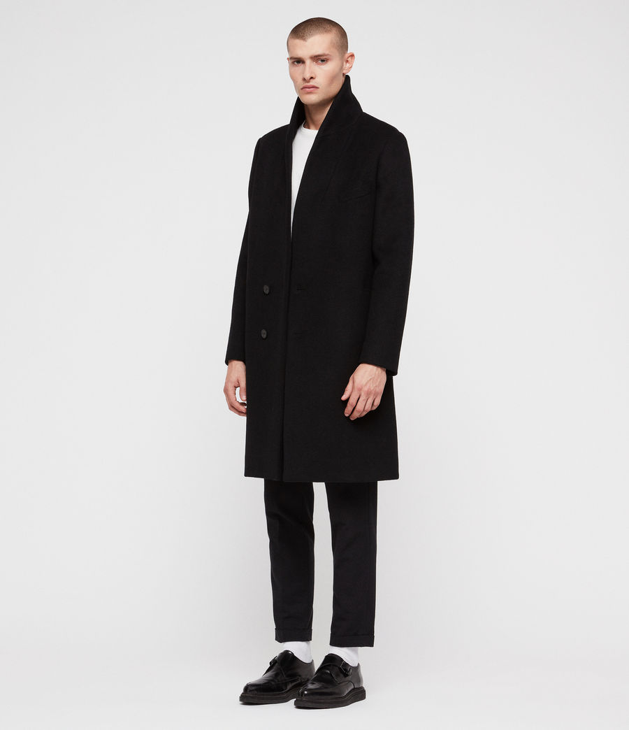 Mens Albany Coat (black) - Image 1
