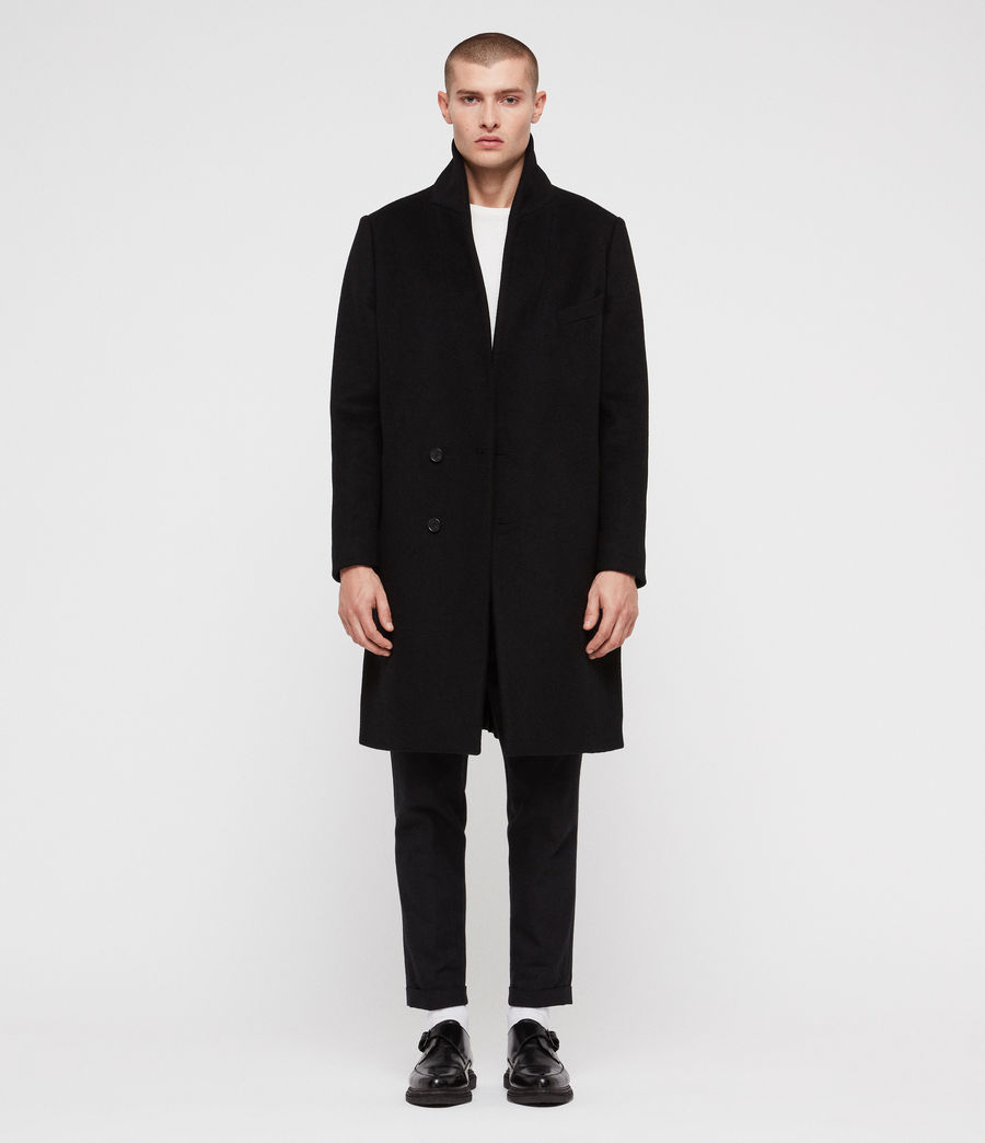 Mens Albany Coat (black) - Image 3