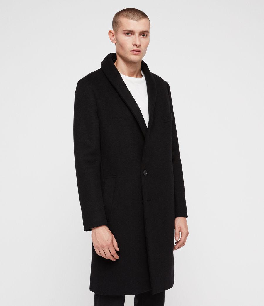 Mens Albany Coat (black) - Image 4