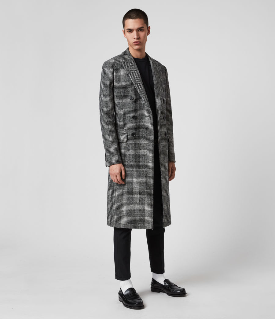 Mens Danson Coat (black_grey) - Image 1
