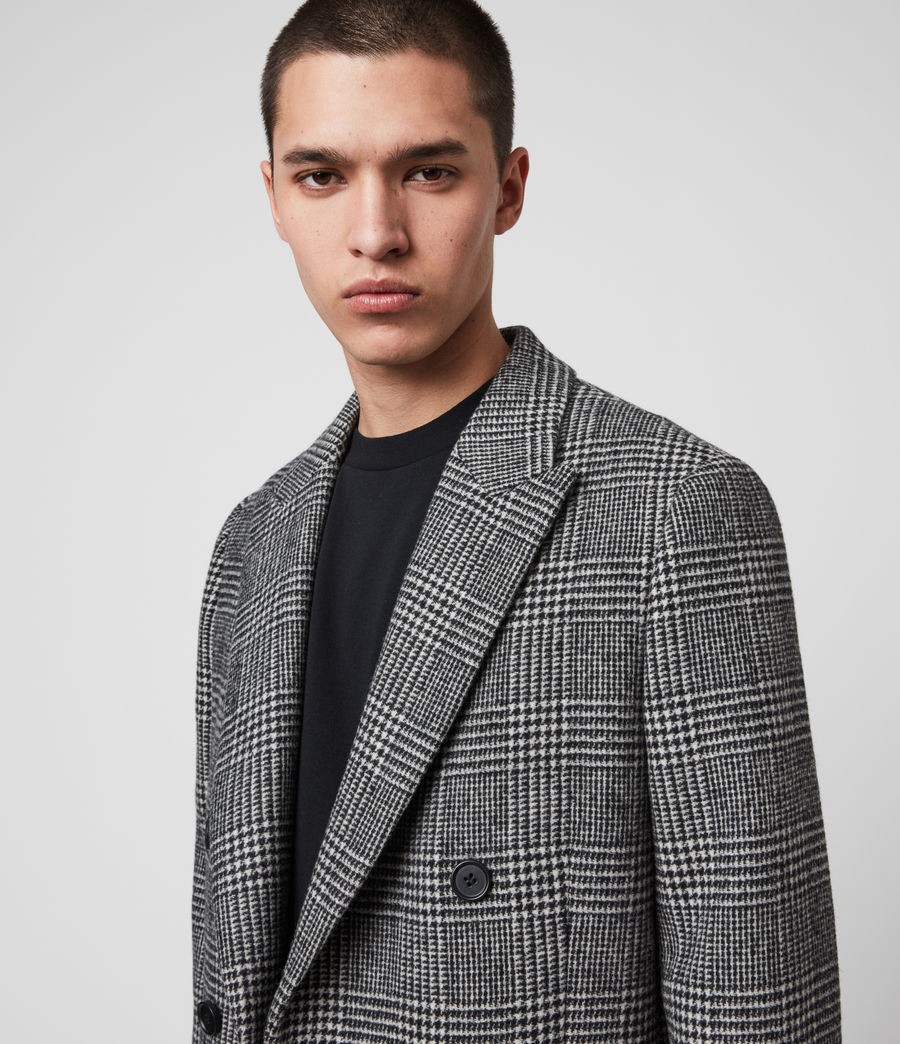Mens Danson Coat (black_grey) - Image 2