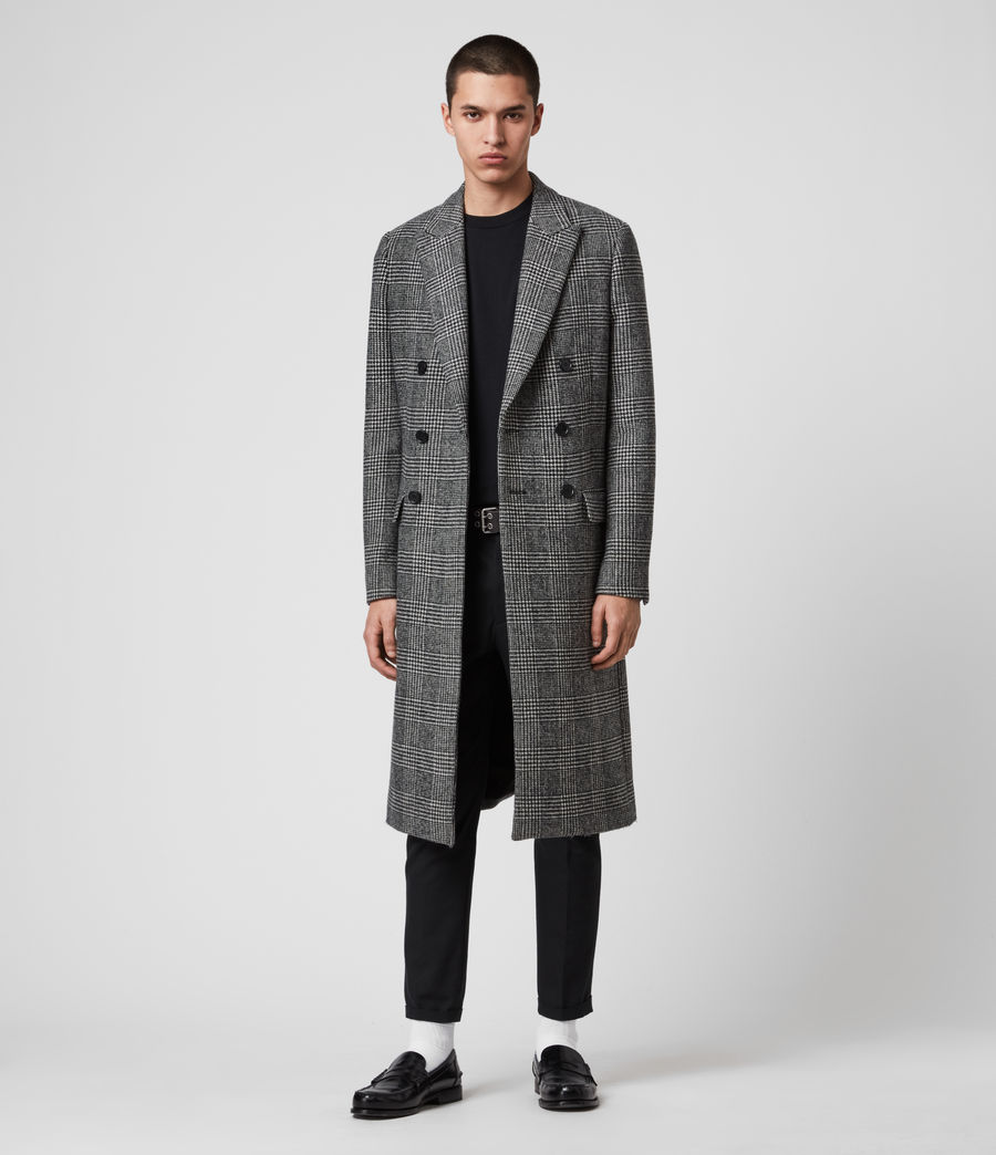 Mens Danson Coat (black_grey) - Image 5