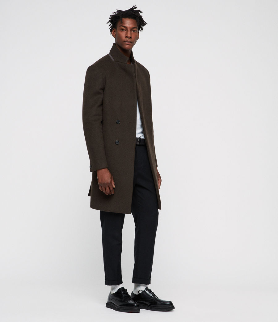 Men's Dowth Coat (dark_khaki_green) - Image 1