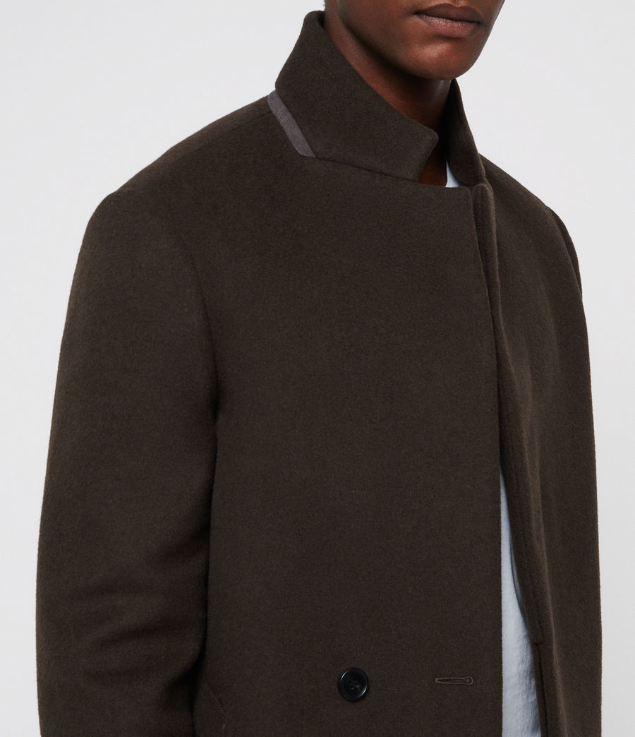 Men's Dowth Coat (dark_khaki_green) - Image 2