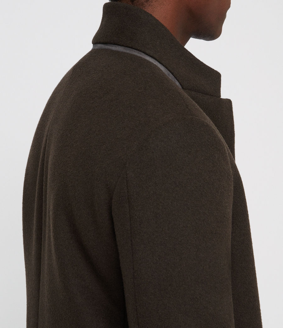 Men's Dowth Coat (dark_khaki_green) - Image 4