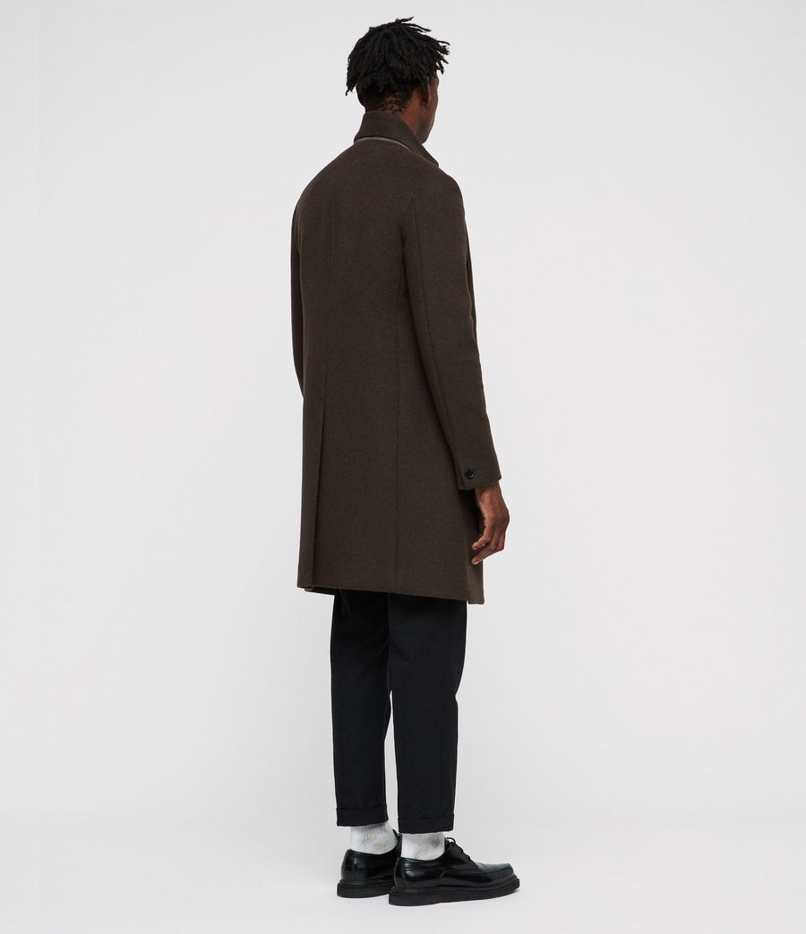 Men's Dowth Coat (dark_khaki_green) - Image 5
