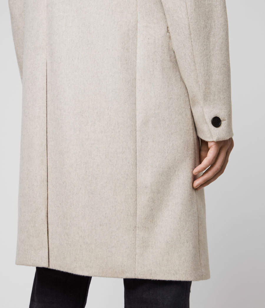 Mens Birdstow Wool Coat (oatmeal) - Image 5
