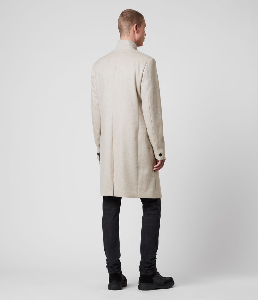 Mens Birdstow Wool Coat (oatmeal) - Image 7