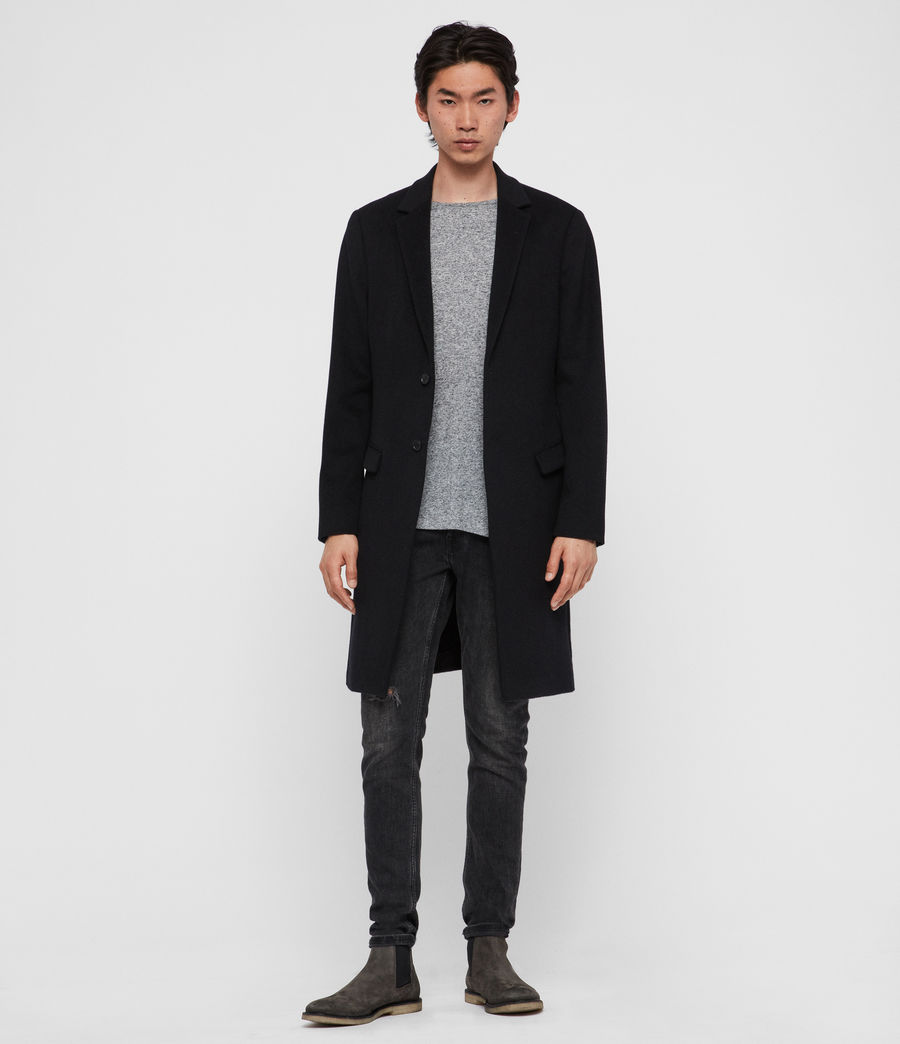 Men's Birdstow Wool Coat (ink_navy) - Image 2