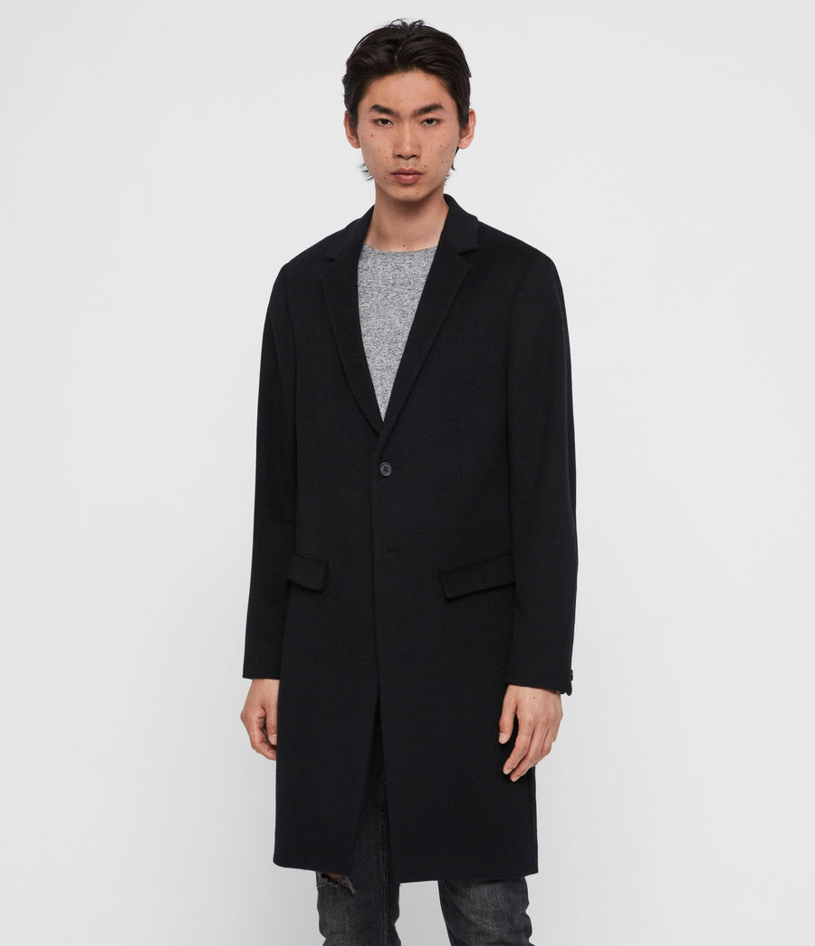 Men's Birdstow Wool Coat (ink_navy) - Image 4