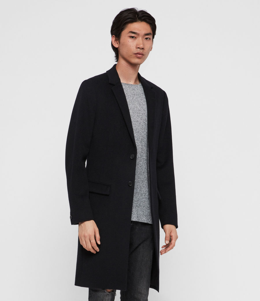 Men's Birdstow Wool Coat (ink_navy) - Image 5