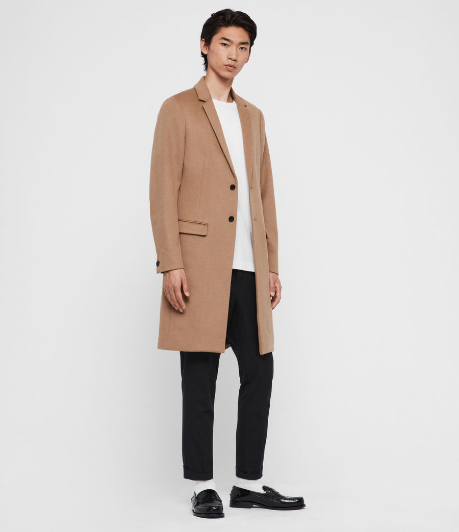 Men's Birdstow Wool Coat (camel_brown) - Image 3