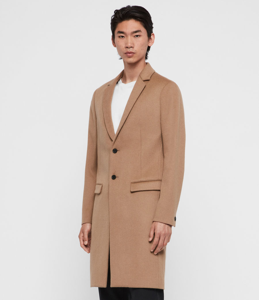 Men's Birdstow Wool Coat (camel_brown) - Image 4