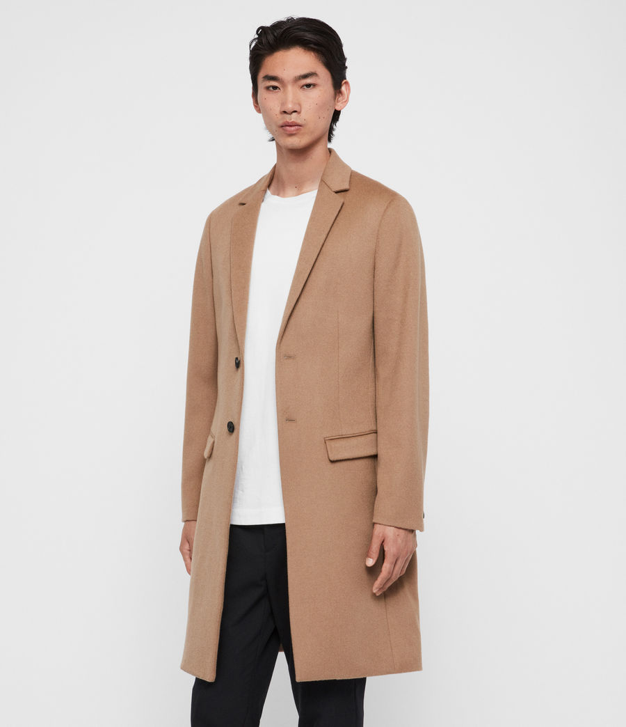 Uomo Cappotto Birdstow - Slim monopetto in lana (camel_brown) - Image 5