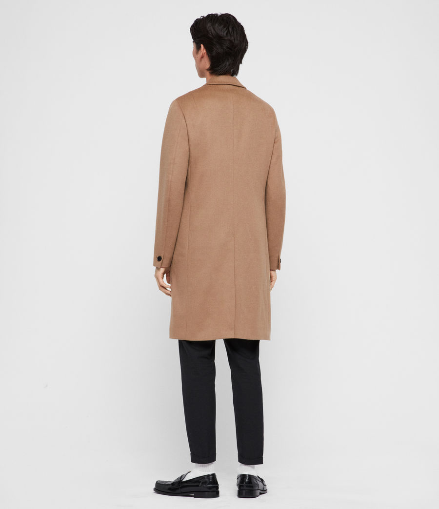 Uomo Cappotto Birdstow - Slim monopetto in lana (camel_brown) - Image 6