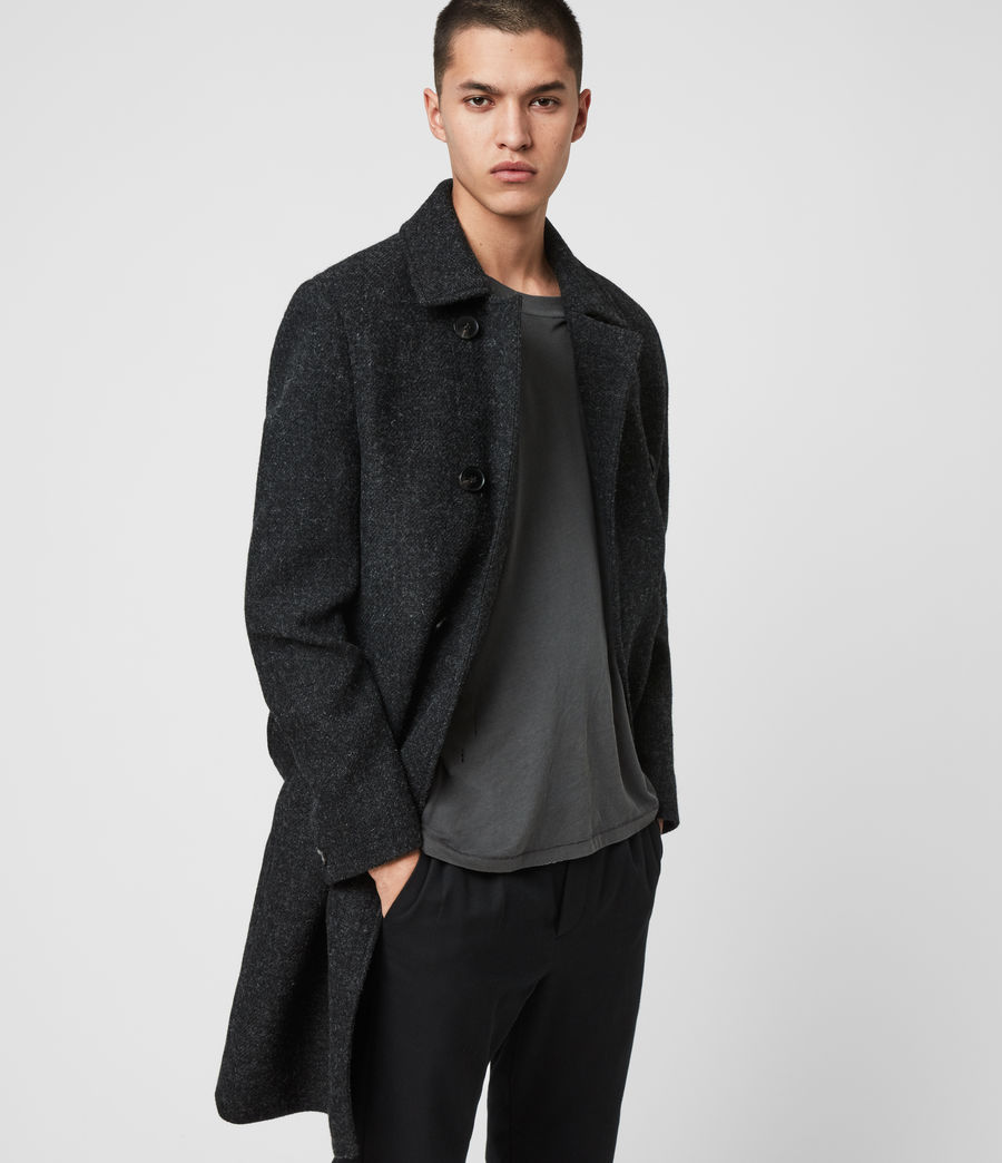 Men's Shaw Wool Coat (charcoal_grey) - Image 1