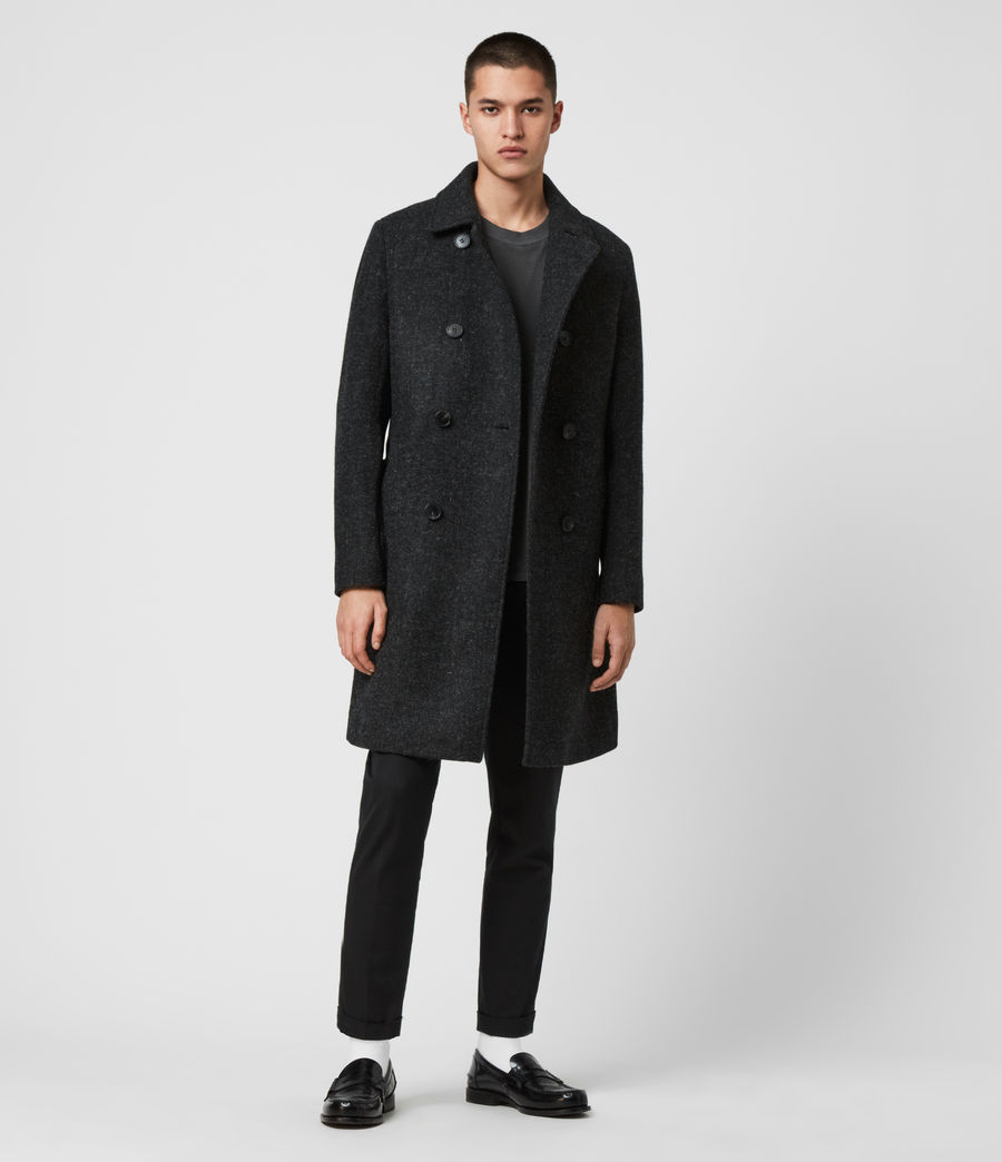 Men's Shaw Wool Coat (charcoal_grey) - Image 2