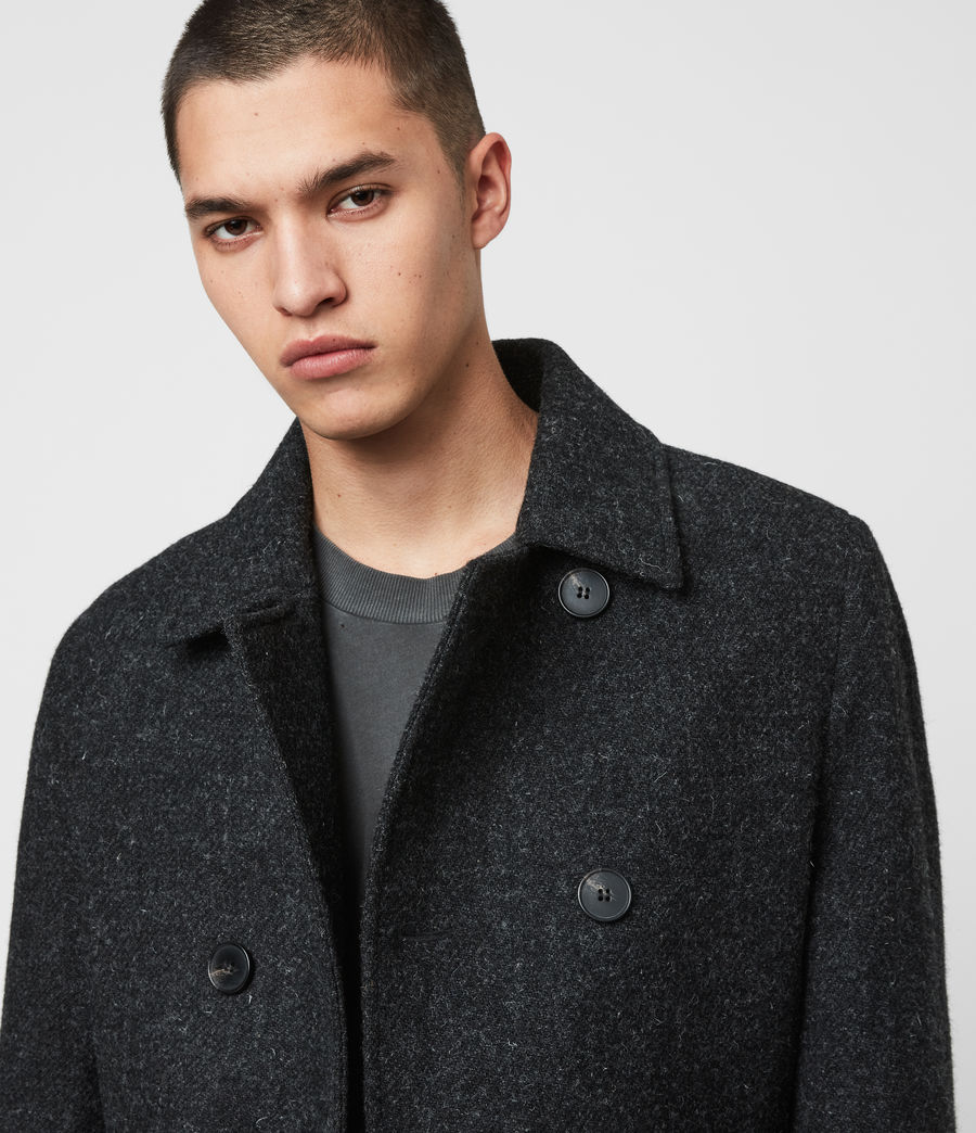 Mens Shaw Wool Coat (charcoal_grey) - Image 3