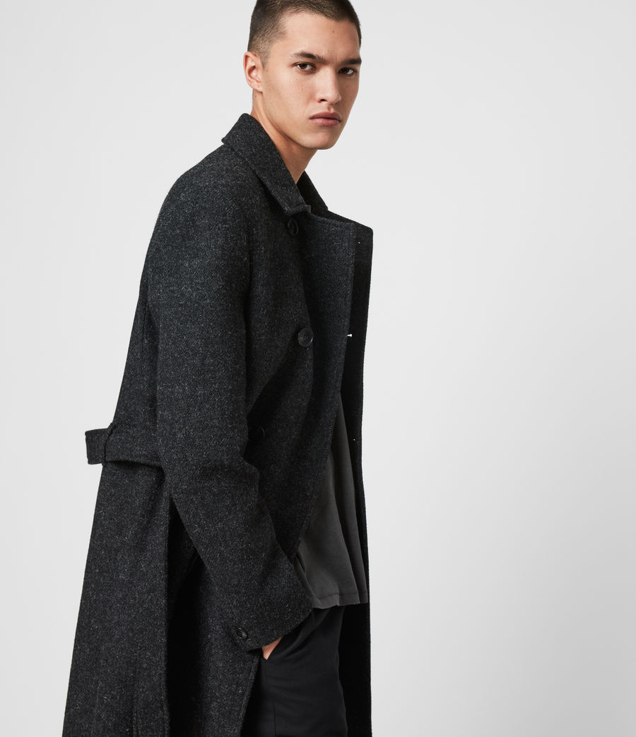 Mens Shaw Wool Coat (charcoal_grey) - Image 4