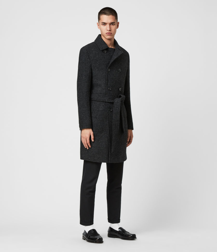 Men's Shaw Wool Coat (charcoal_grey) - Image 5