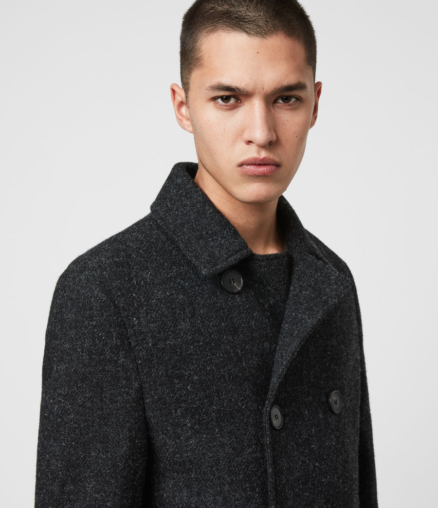Men's Shaw Wool Coat (charcoal_grey) - Image 3