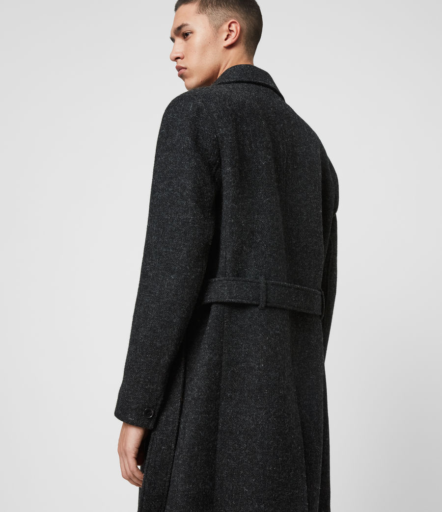 Men's Shaw Wool Coat (charcoal_grey) - Image 7