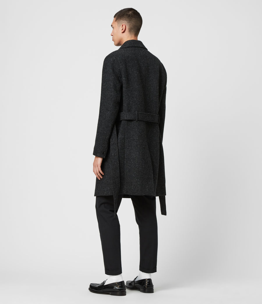 Men's Shaw Wool Coat (charcoal_grey) - Image 4