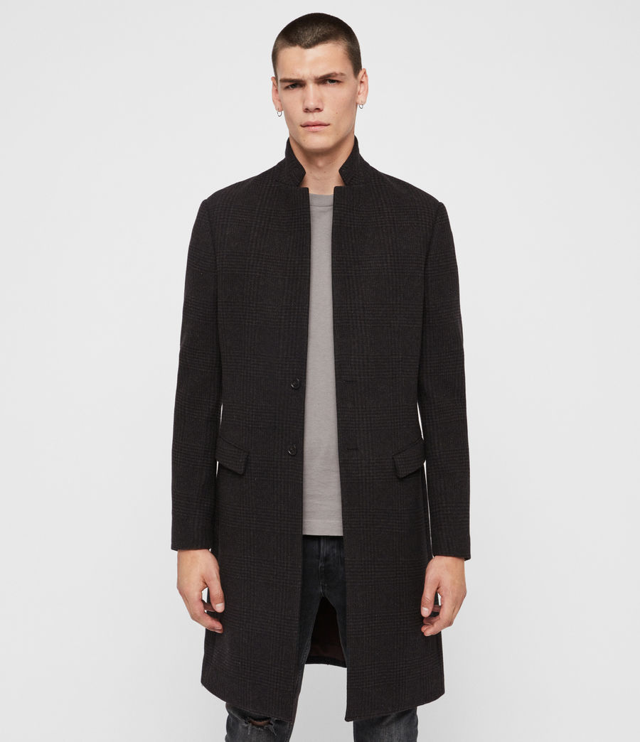 Mens Burge Coat (black_charcoal) - Image 1