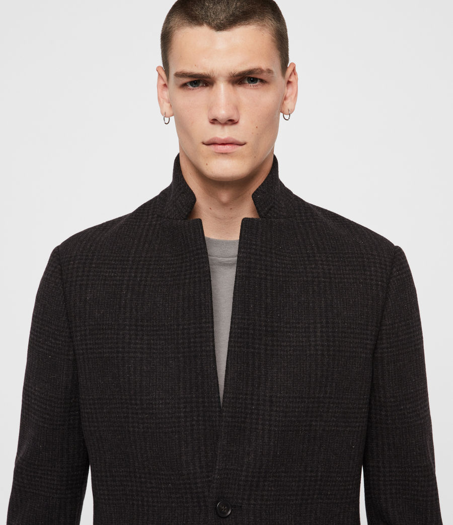 Mens Burge Coat (black_charcoal) - Image 2