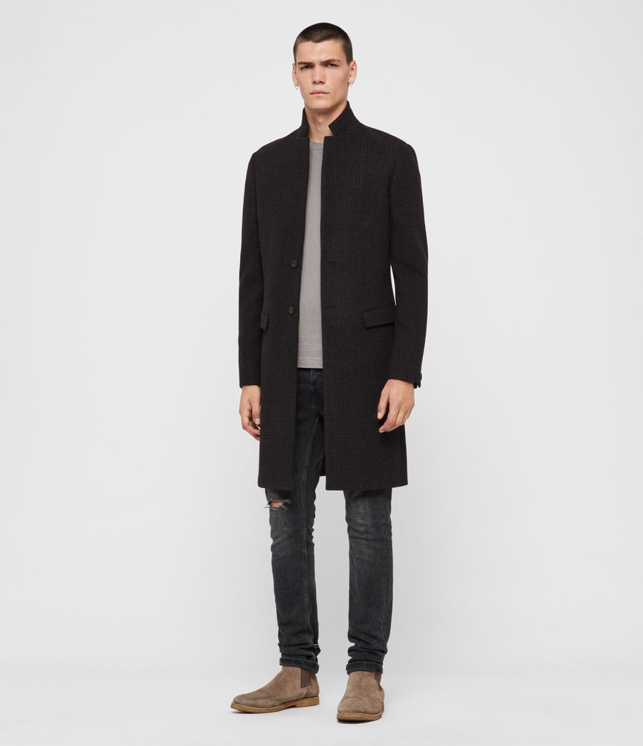 Men's Burge Coat (black_charcoal) - Image 3