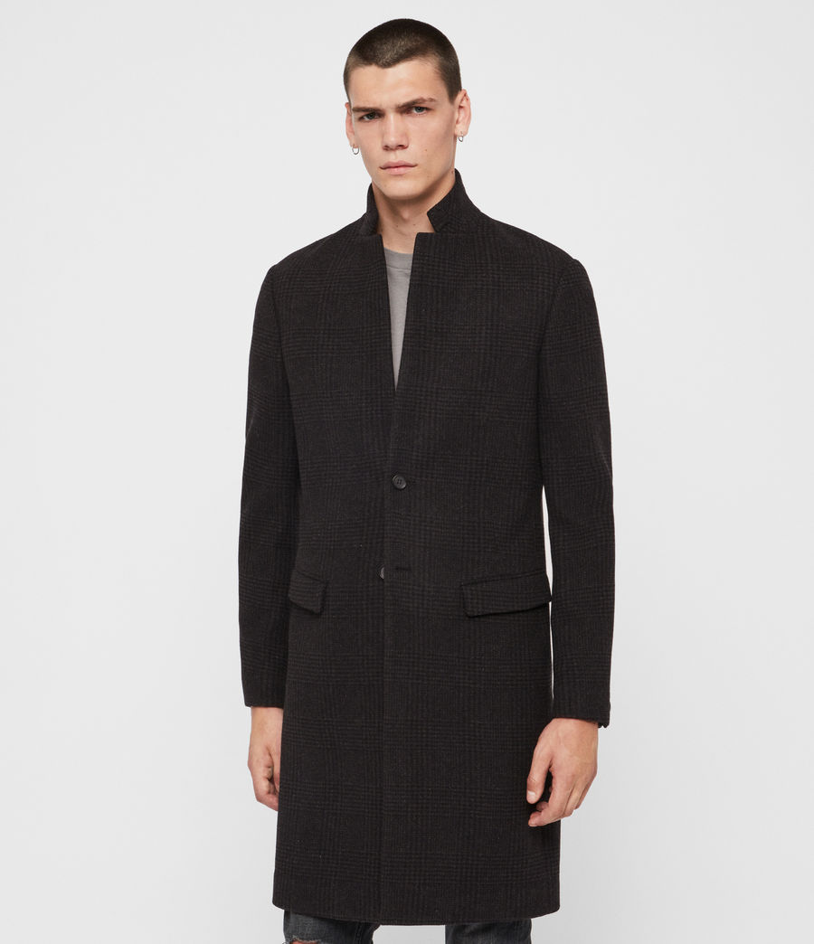 Men's Burge Coat (black_charcoal) - Image 4