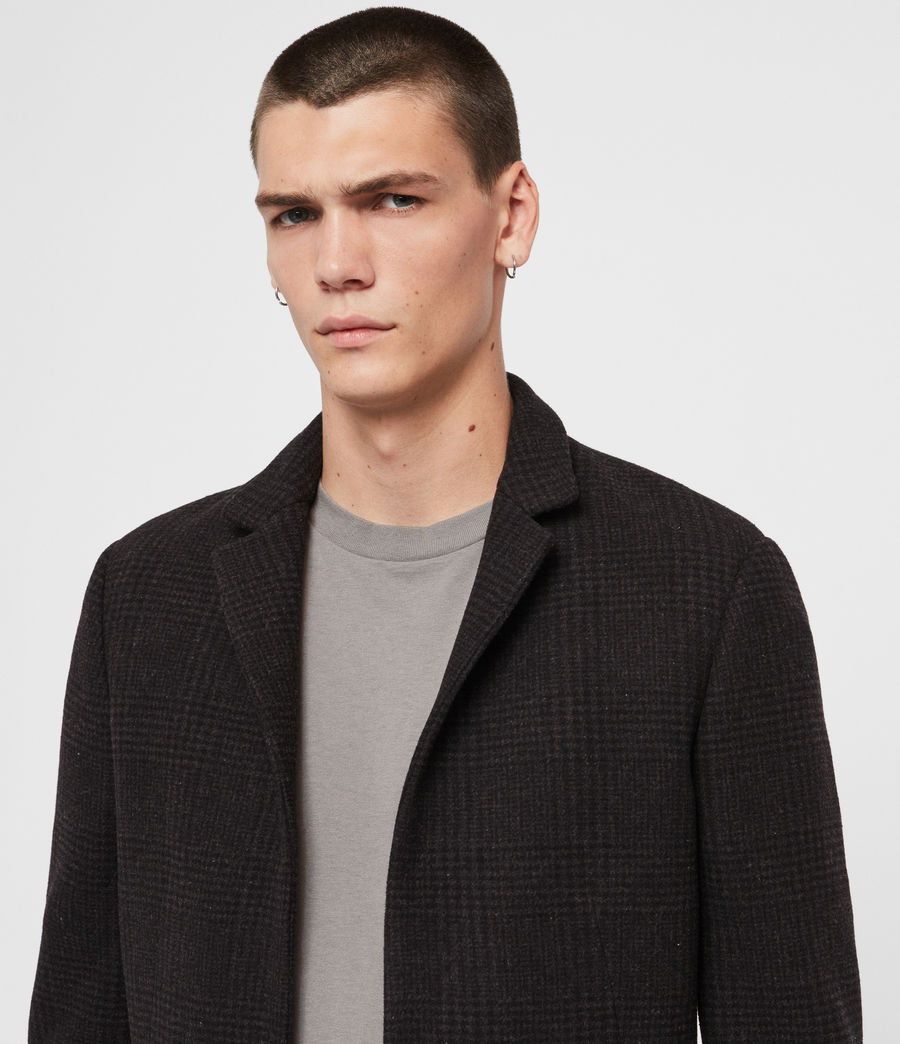 Mens Burge Coat (black_charcoal) - Image 5