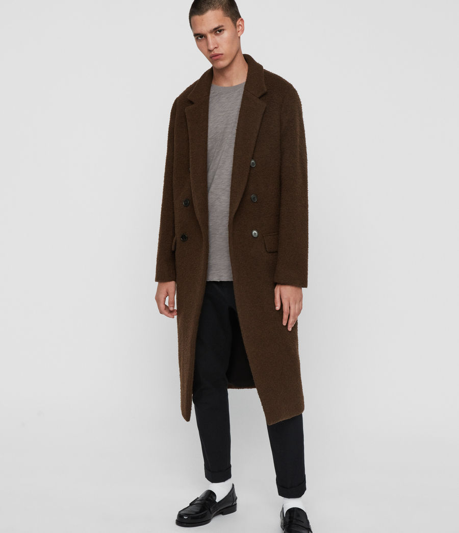 Mens Heron Coat (brown) - Image 1