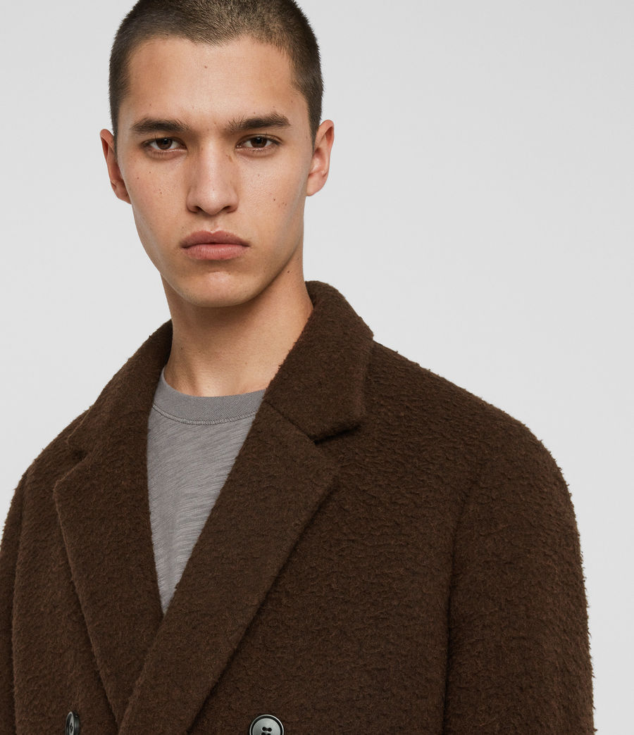Mens Heron Coat (brown) - Image 2