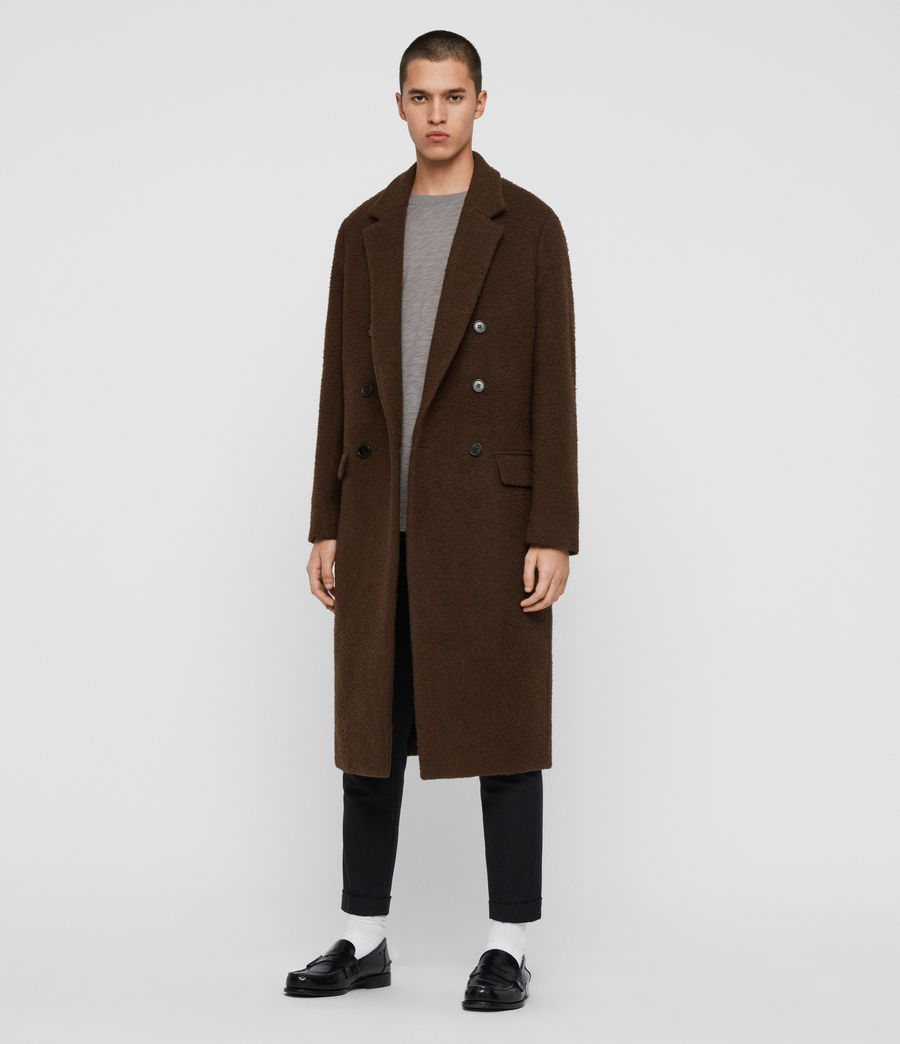 Mens Heron Coat (brown) - Image 3