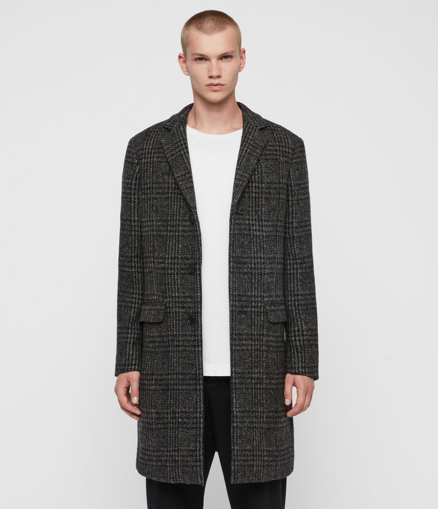 Men's Bendall Coat (black_grey) - Image 1