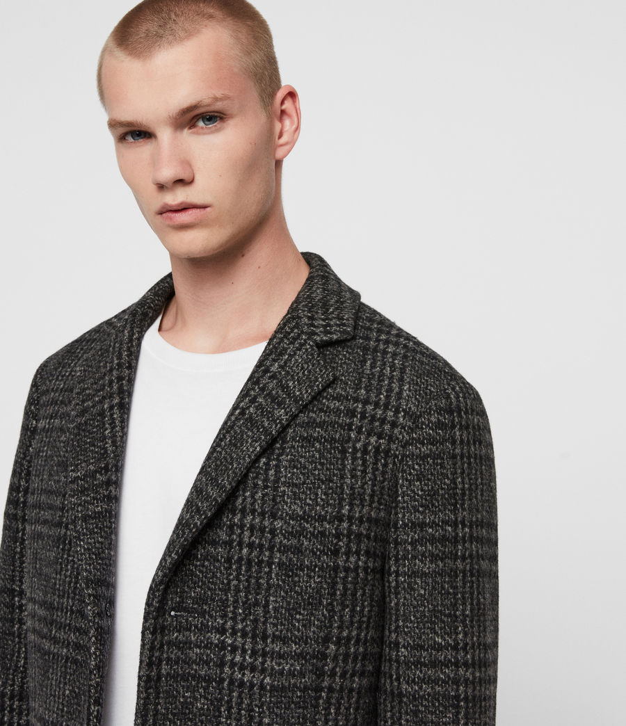 Men's Bendall Coat (black_grey) - Image 2