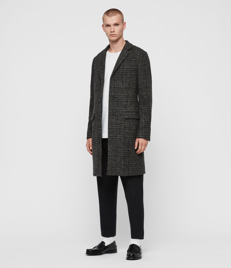 Men's Bendall Coat (black_grey) - Image 3