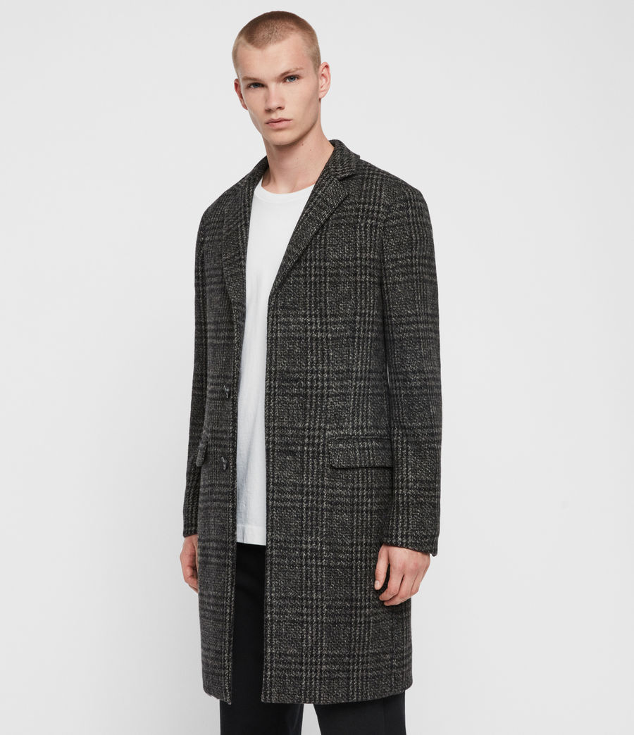 Men's Bendall Coat (black_grey) - Image 5