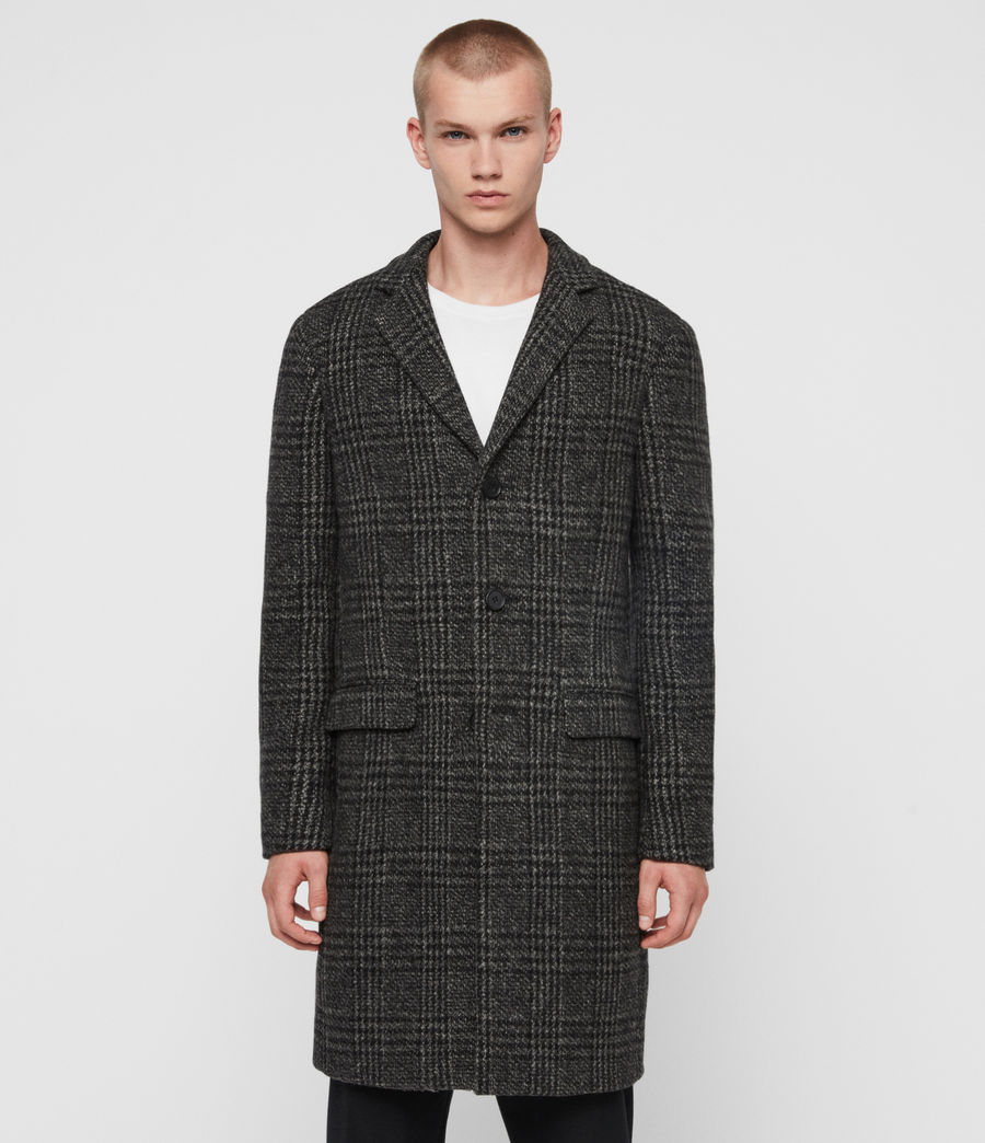 Men's Bendall Coat (black_grey) - Image 6