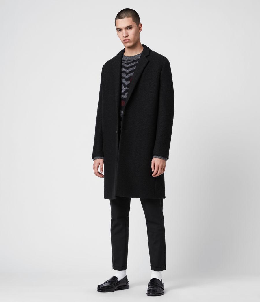 Mens Grafton Wool Coat (black) - Image 1