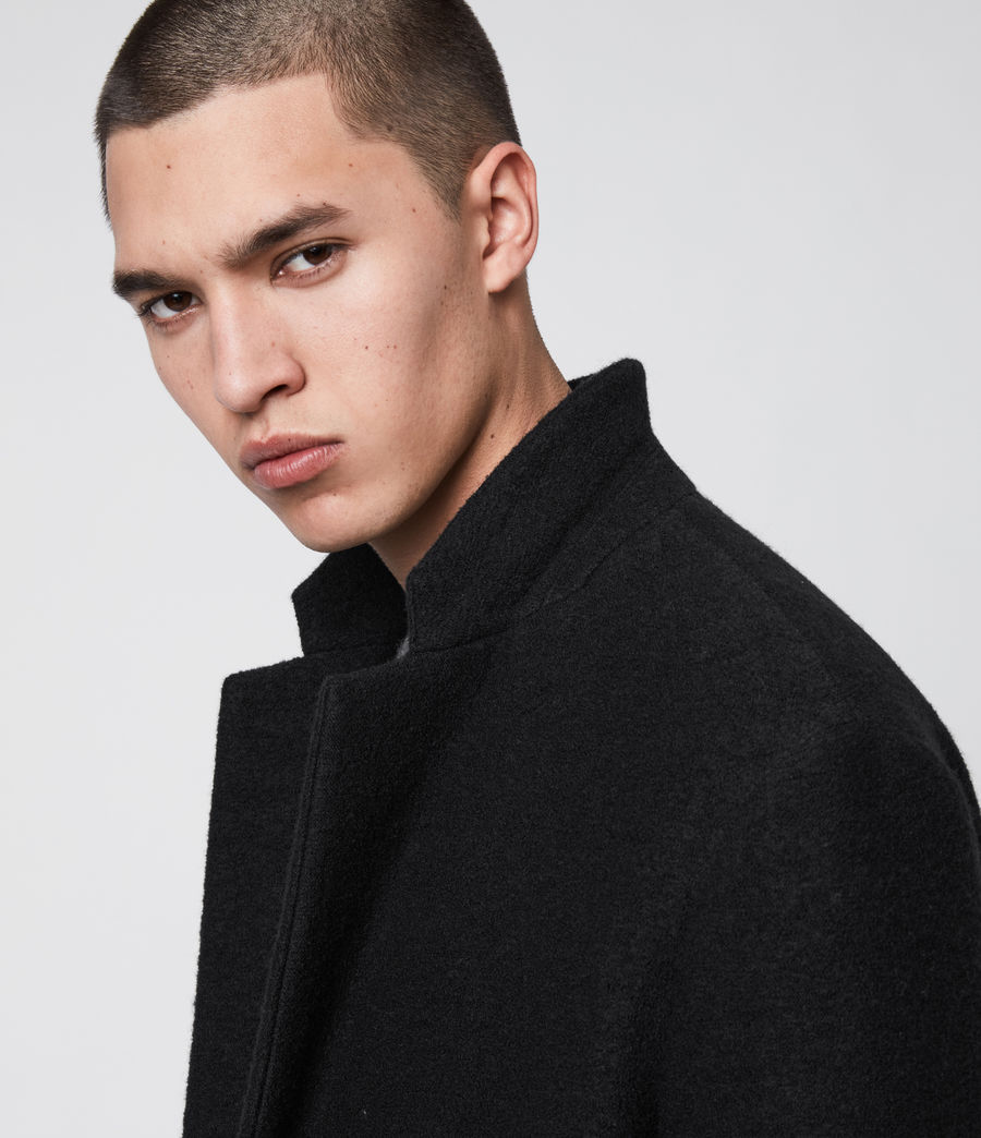 Men's Grafton Wool Coat (black) - Image 3