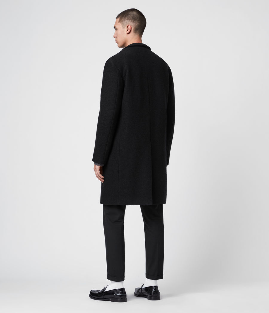 Men's Grafton Wool Coat (black) - Image 5