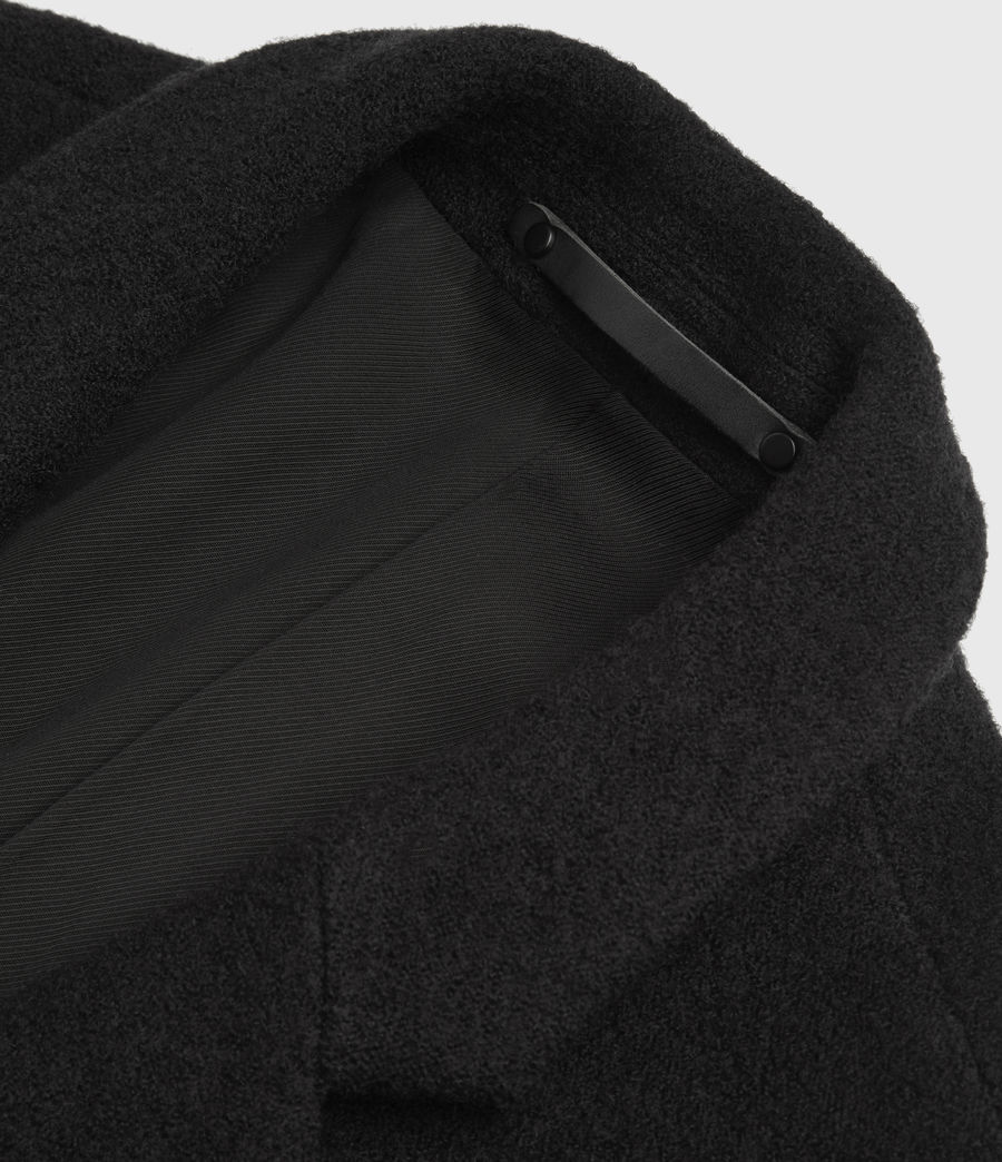 Men's Grafton Wool Coat (black) - Image 7
